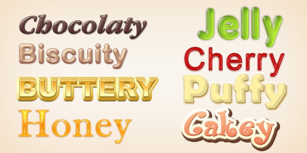 Yummy Photoshop Text Styles PSD