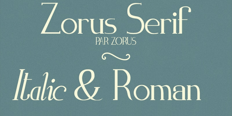 Zorus Serif
