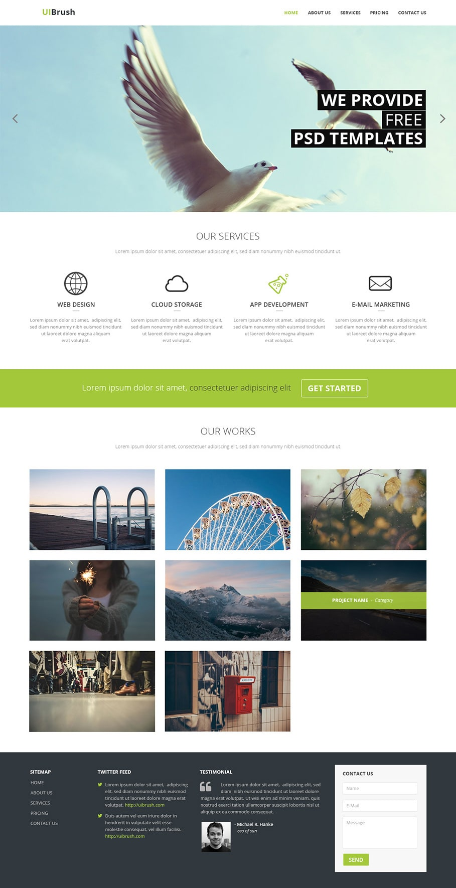 Free Corporate Responsive Web Template