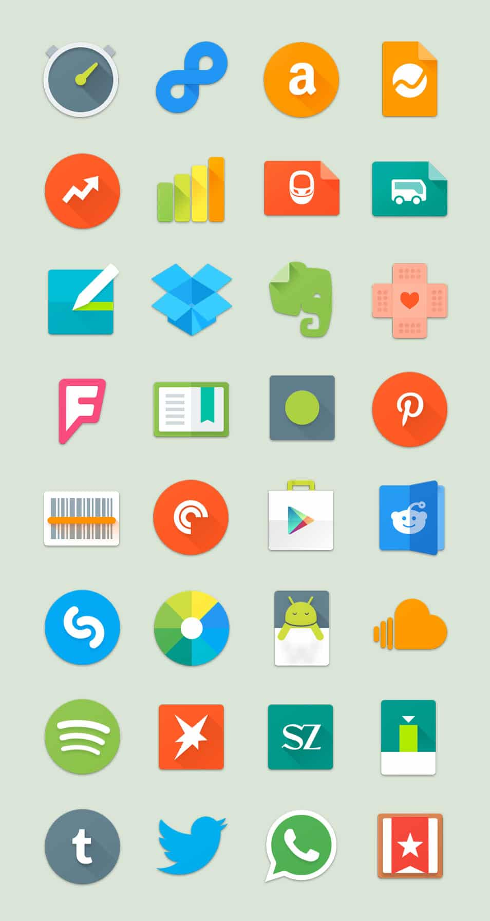 Android Lollipop Icon Set