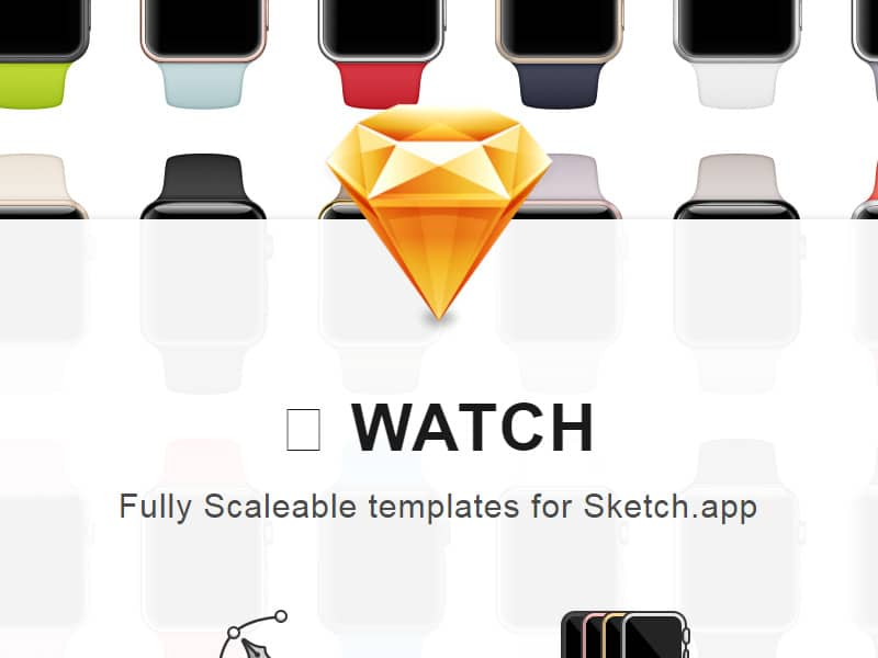 Apple Watch Templates for Sketch
