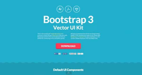 Bootstrap 3 UI Kit for Sketch