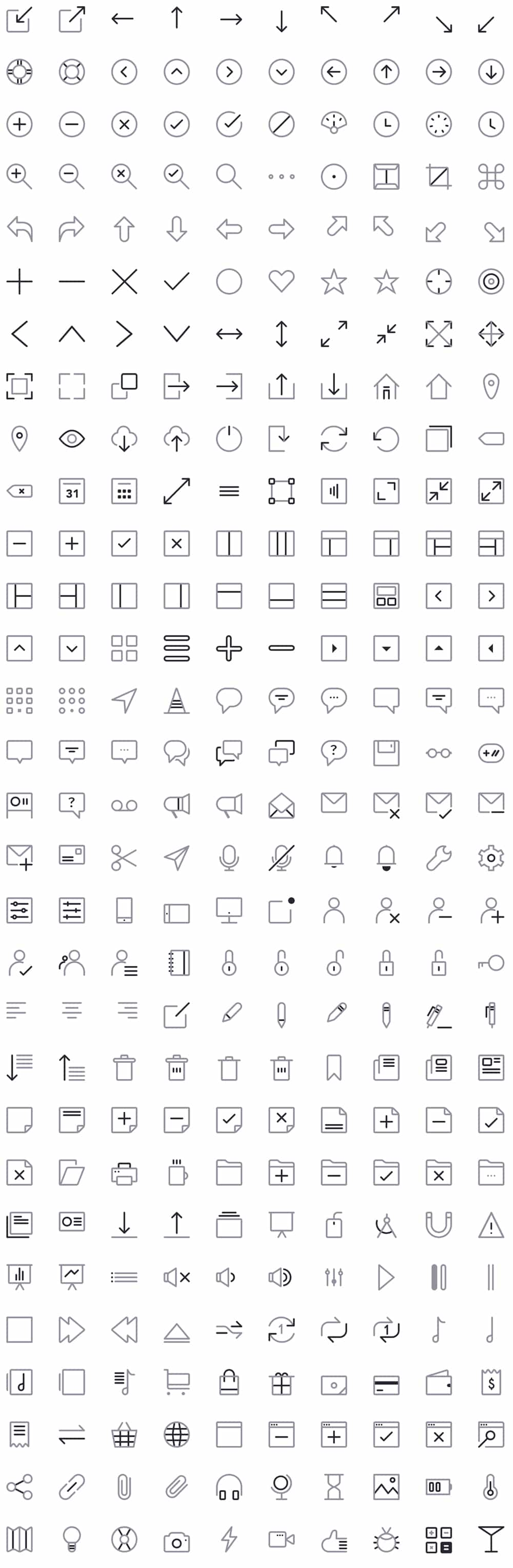 CompassCons Free Sketch Icons