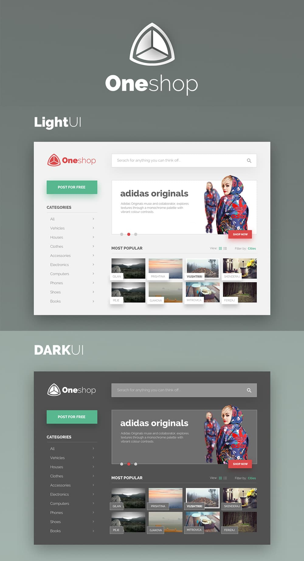Dark & Light UI Kit