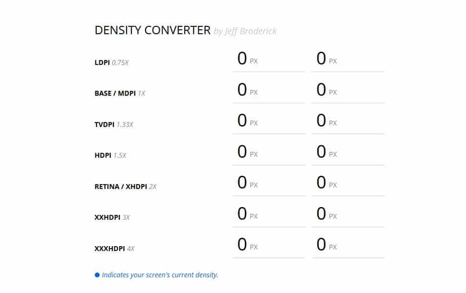 Density Converter