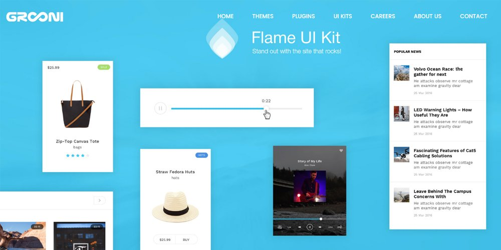 Flame UI Kit for Sketch App