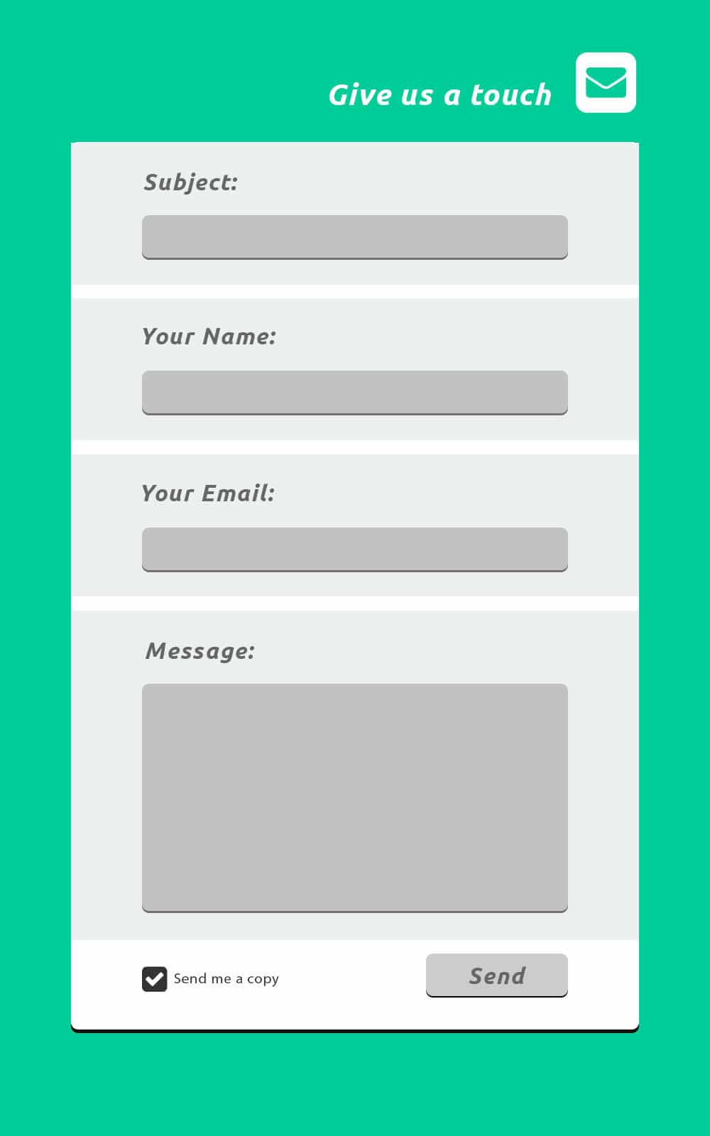 Flat Contact Form PSD