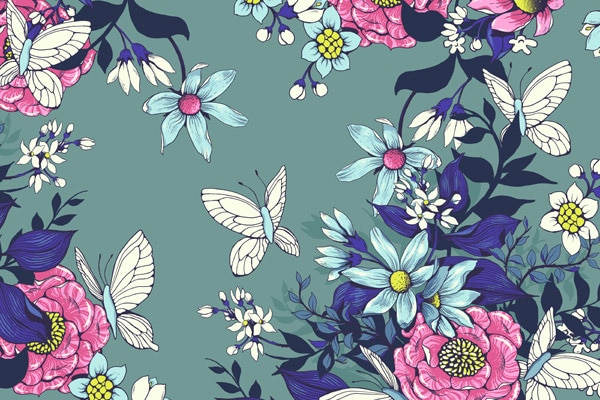 Floral Pattern for Fabric