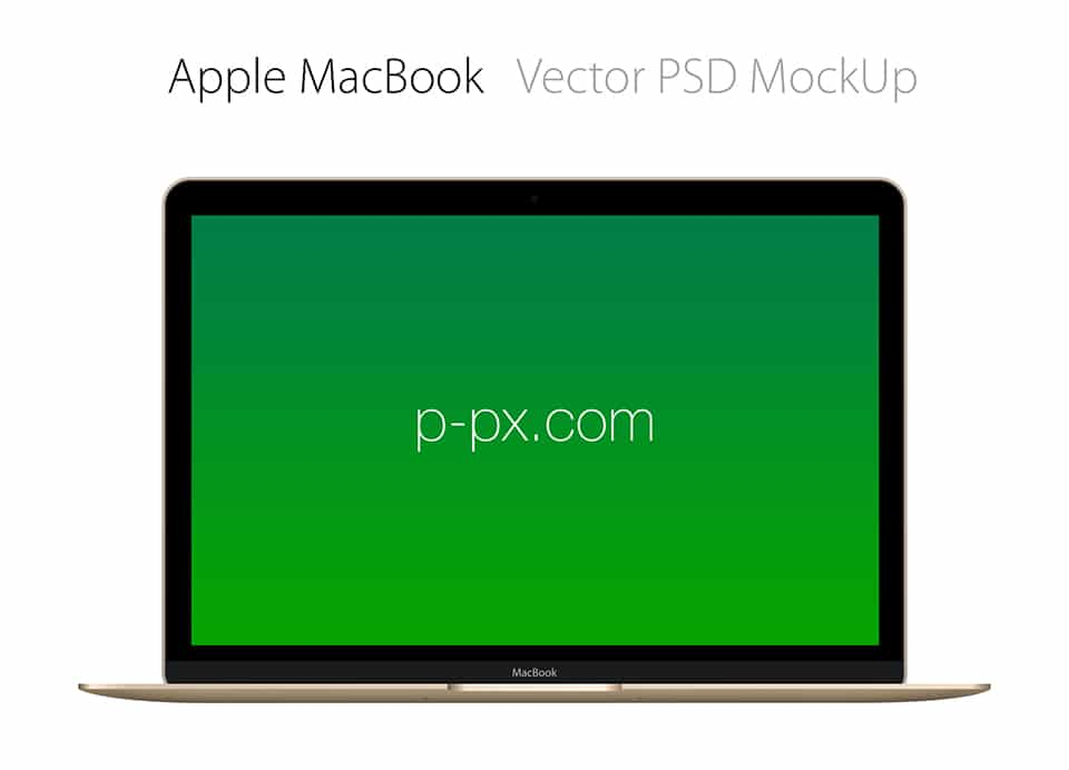 Free Apple Brand MacBook Mockup