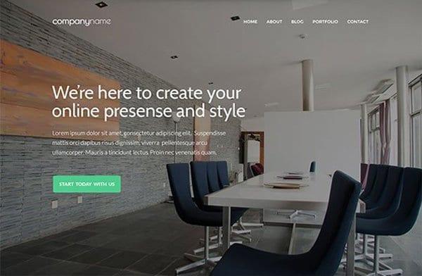 Free Business Website Template PSD
