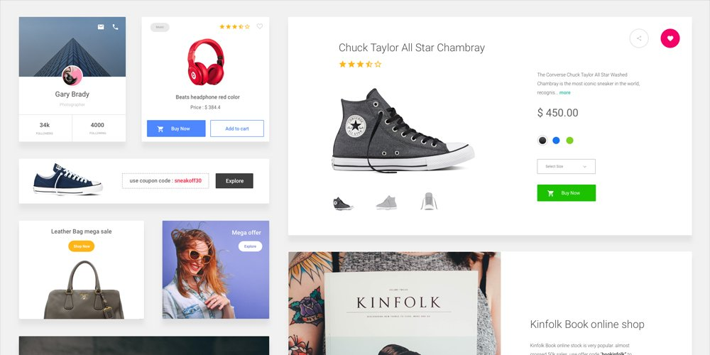 Free E-commerce Sketch UI Kit