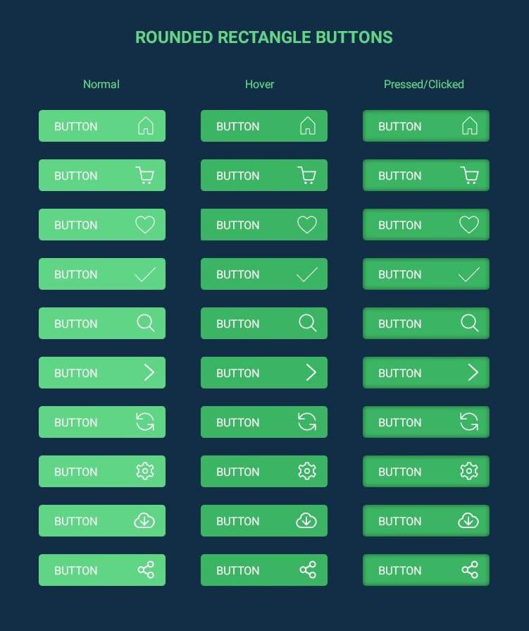 Free Flat Buttons PSD