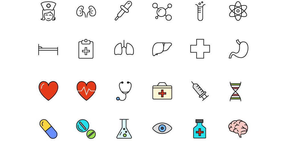 Free Medical & Science Line & Color Icons