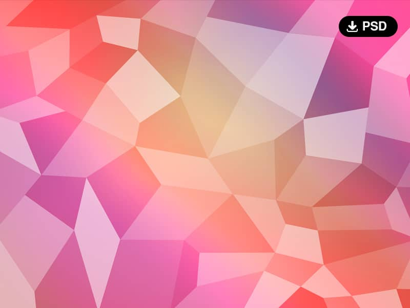 Free Polygon Background PSD
