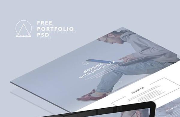 Free Portfolio Landing Page PSD