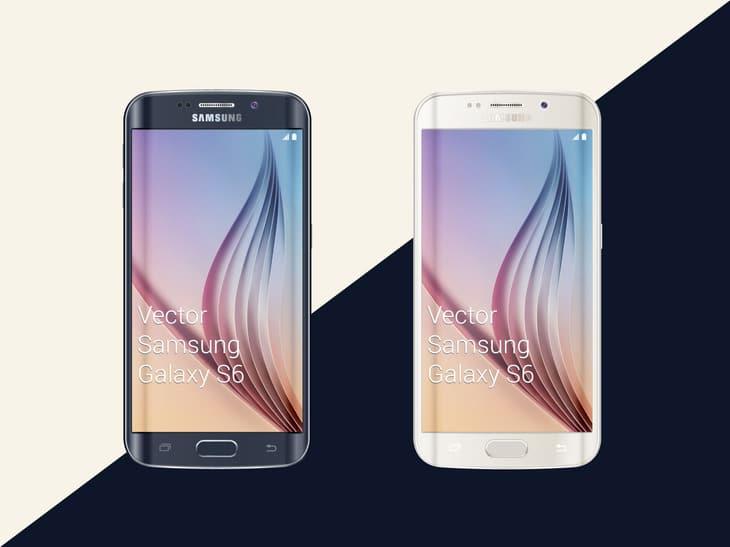 Free Samsung Galaxy S6 Mockup PSD