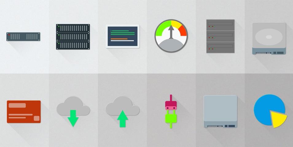 Free Set of Server – Hosting Material Design Icons
