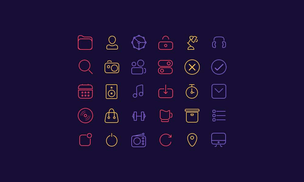 Free Sketch Line Icons