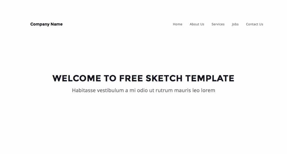 Free Sketch Website Template