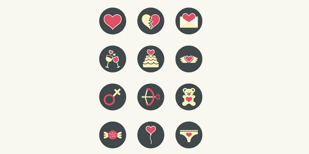 Free Vector Love Icons