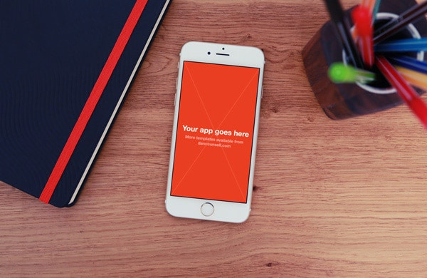 Free iPhone 6 Photo Mockup PSD