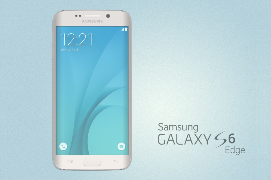 Galaxy S6 Edge Mockup PSD