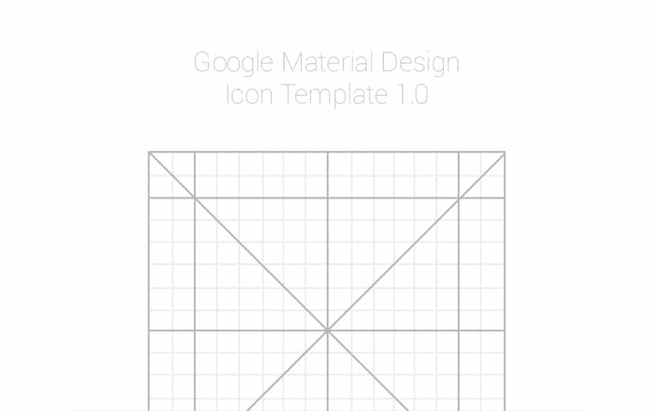 Google Design Icon Template