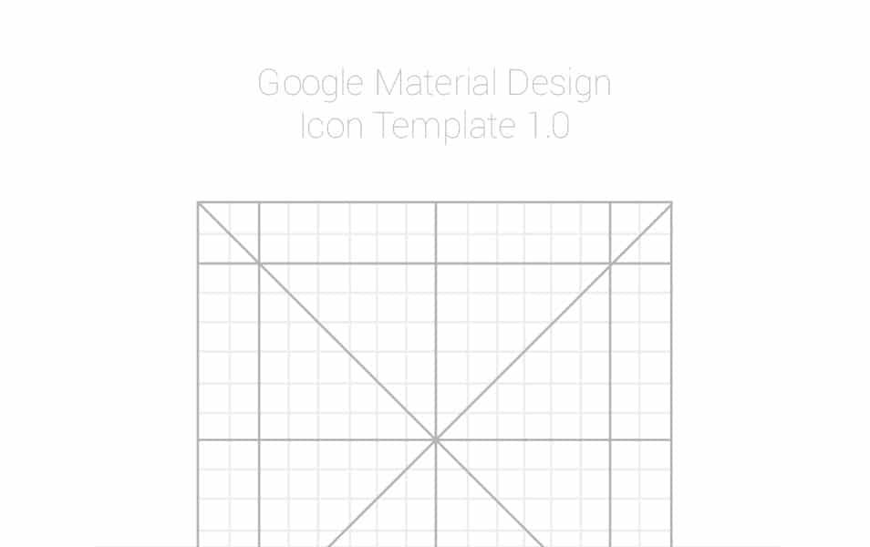 Google Design Icon Template