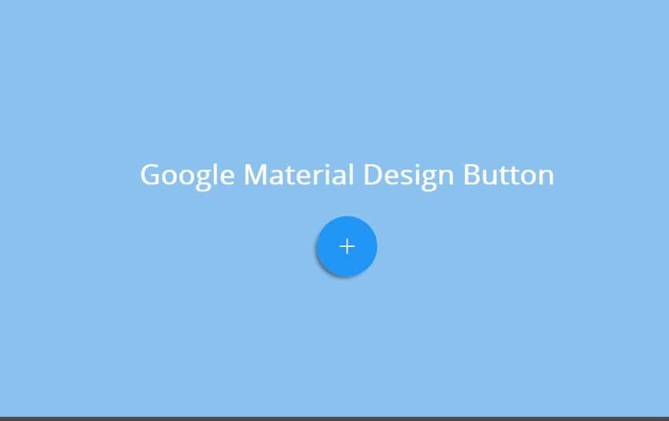 Google Material Design Button
