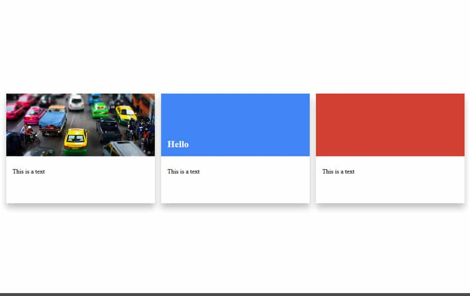 Google Material Design Cards