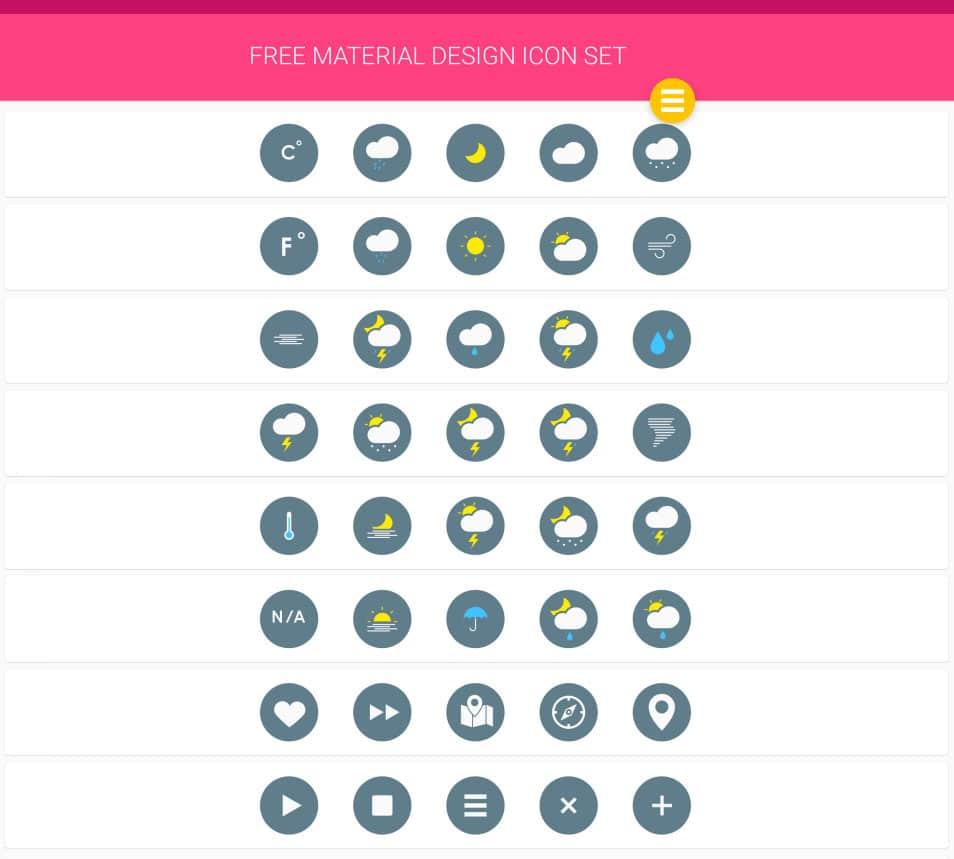 Google Material Design – Free Icon Set