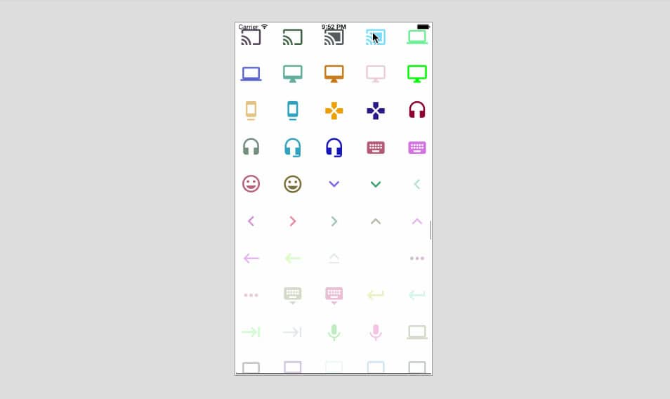 Google Material Design Icons Font for iOS
