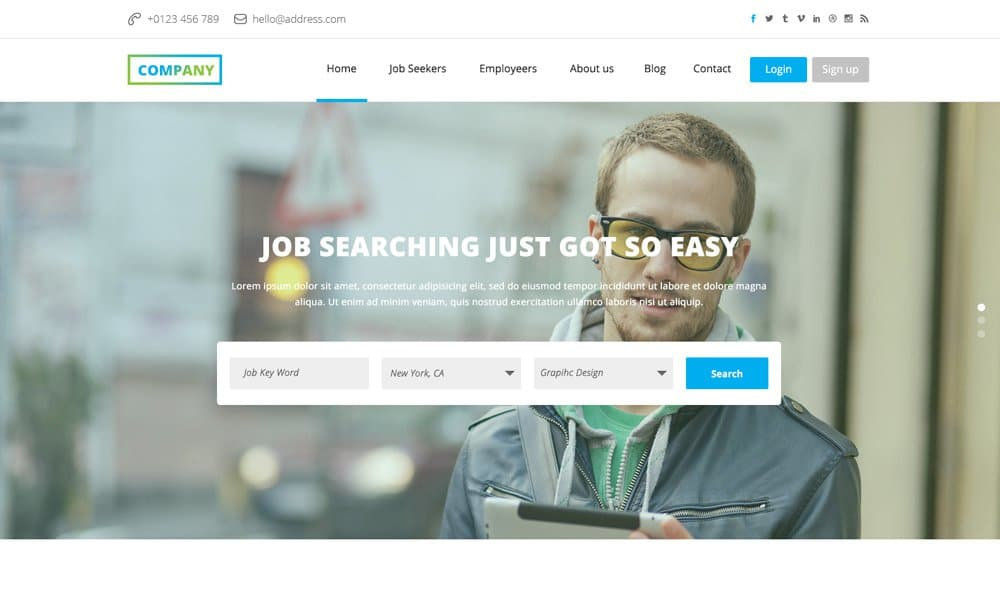 Job Board - Free Web Template