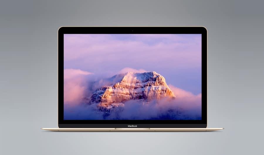 MacBook Gold Vector Mockup