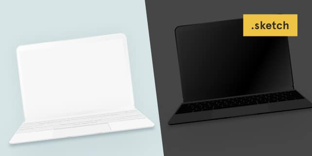 MacBook Minimalist Vector Mockup