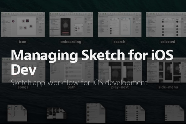 Managing Sketch for iOS Dev