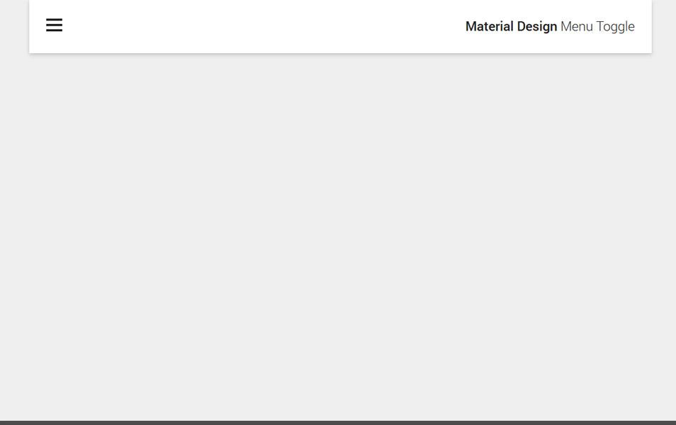 Material Design Menu Toggle