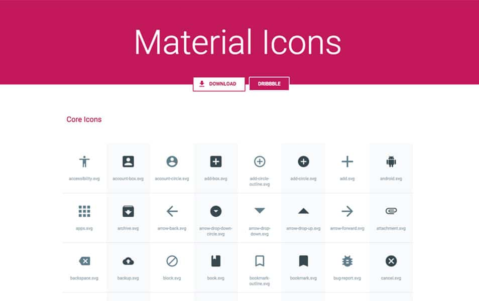 Material Icons Pack