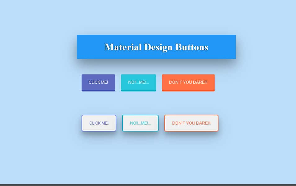 Material Design Buttons