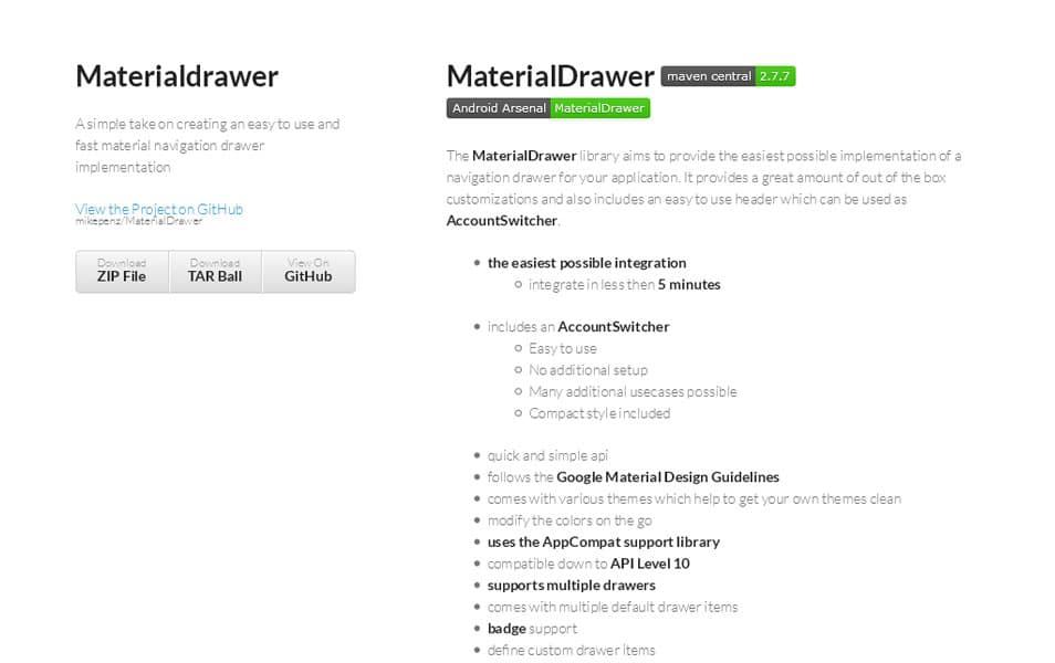 MaterialDrawer