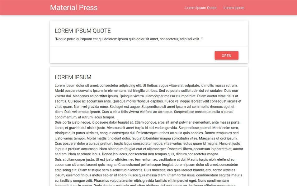 MaterialPress