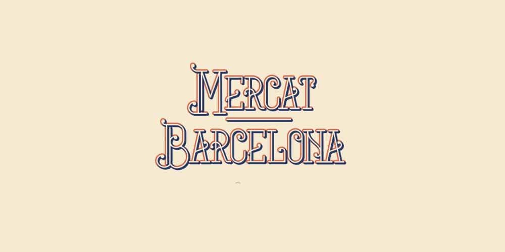 Mercat Barcelona Free Font