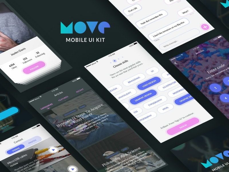 Move - Mobile UI Kit