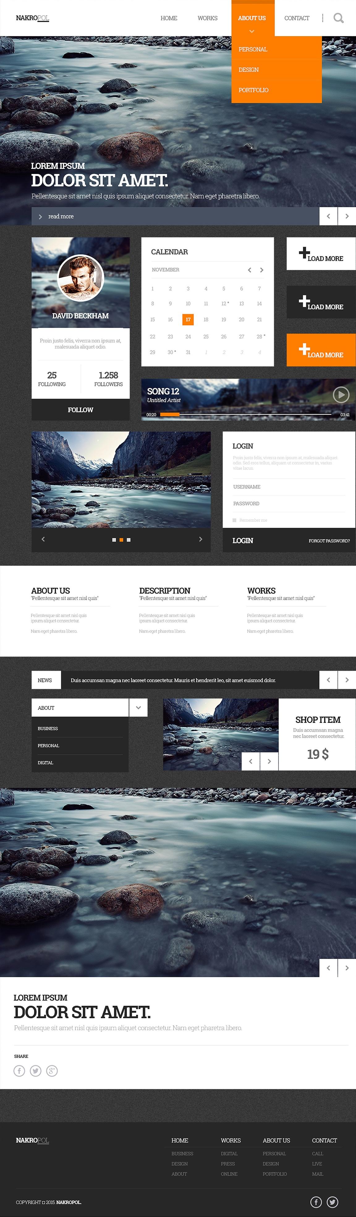 Nakropol - Free Web UI Kit PSD