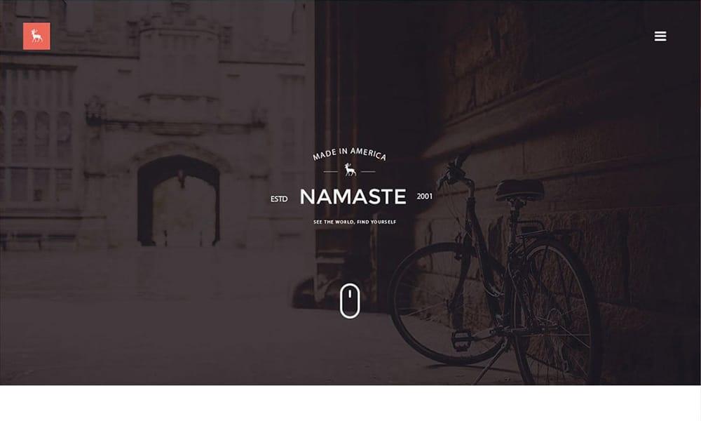 Namaste - Free Portfolio Template PSD