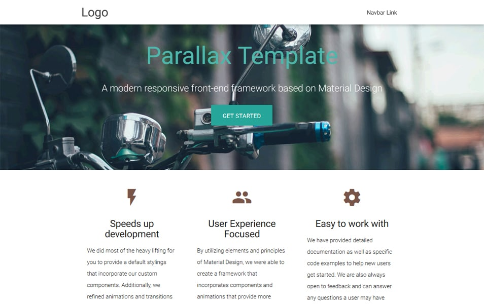 Parallax Template