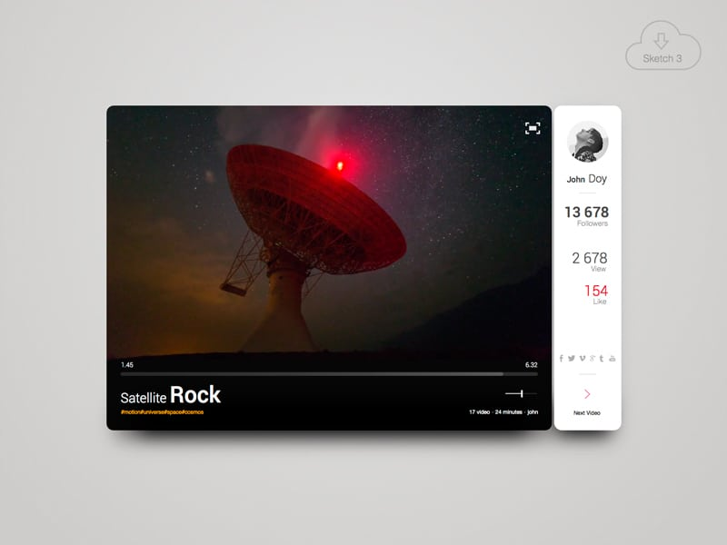 Satellite Rock - Video Widget