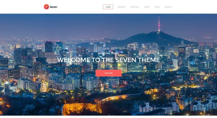 Seven - Single Page Creative Portofolio HTML Template