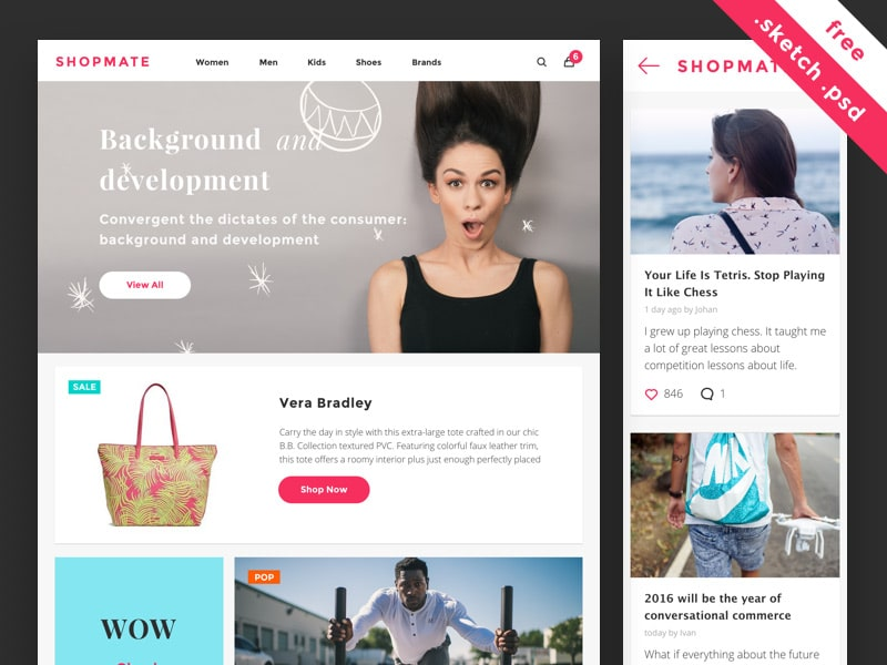 Shopmate Free UI Kit