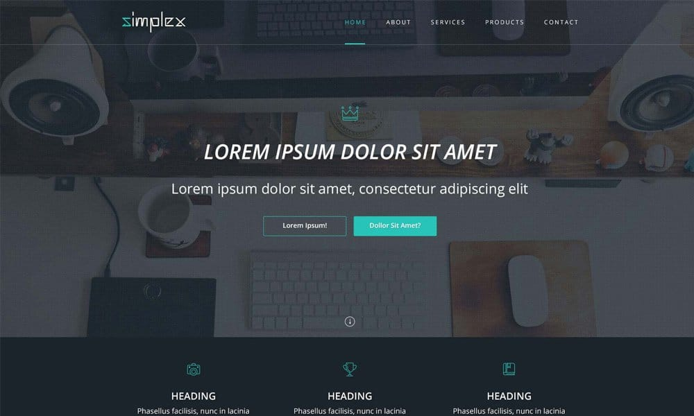 Simplex - Free Template PSD